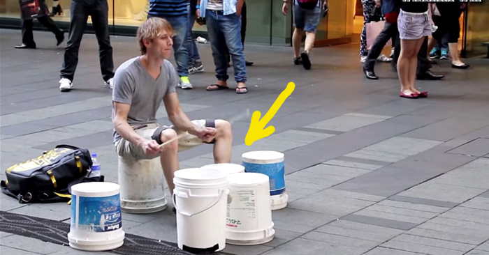 World's Best Street Drummer. You've Got To See It To Believe It.