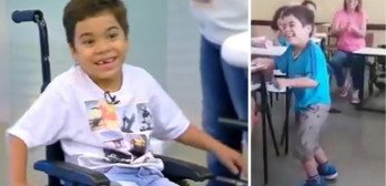 paralyzed boy with polio walks