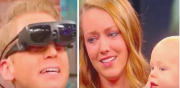 blind man sees wife for first time