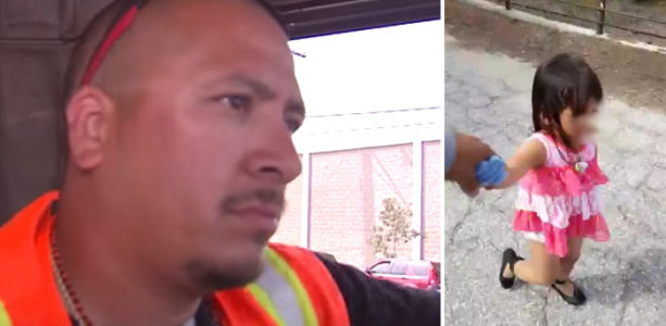 truck driver finds toddler by highway