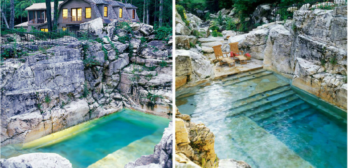 limestone quarry into pool