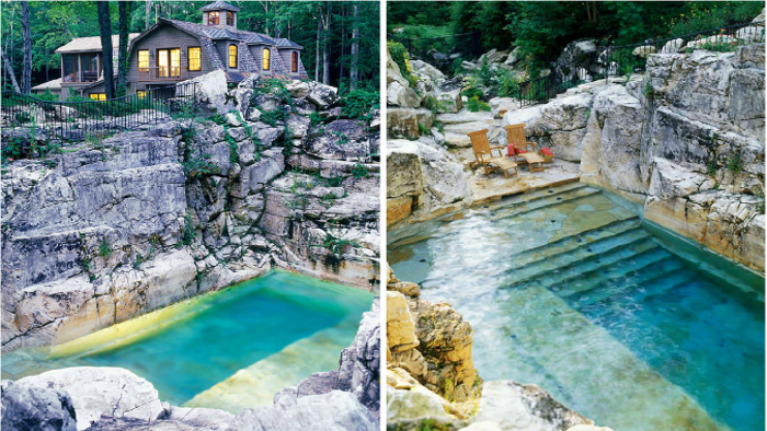 An Old Limestone Quarry Is Transformed From A Pile Of Rubble Into A Gorgeous Pool