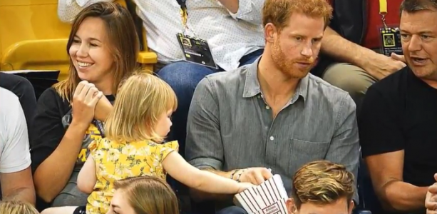 toddler steals prince harry's popcorn invictus games