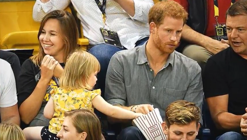 prince harry with toddler invictus games