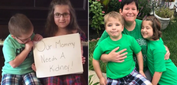 kids get mom a kidney and go viral