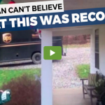 Gone Viral! Family Leaves Christmas Gift For UPS Guy And Their Security Camera Catches His Reaction.